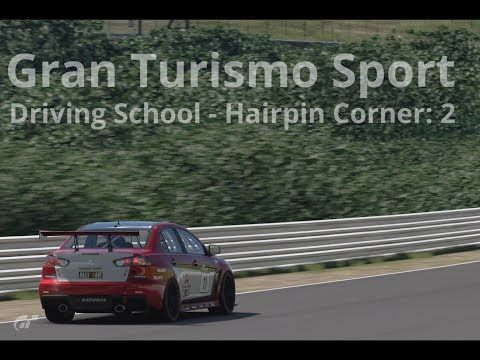 New video! #granturismosport #gtsport #sony #ps4 #ps4pro #playstation #simulator #game #games #drivingschool #hairpin #corner #two #mitsubishi #lancer #evolution #evo #evogr4 #racecar #cars #tracks #online #roadracing #rallyracing