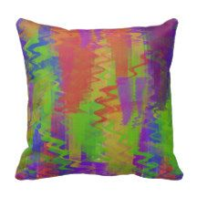 Bright colored abstract zig zag pillow. From $29.95 #Cushion #ThrowPillow