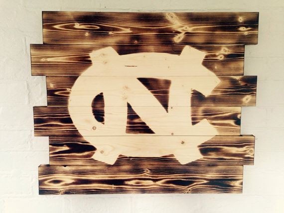 University of North Carolina Tarheels wood by WallyWallhangers