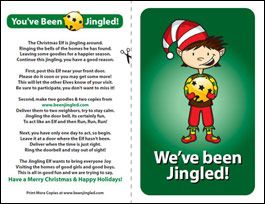 Free You've Been Jingled (or Elfed) prinables.
