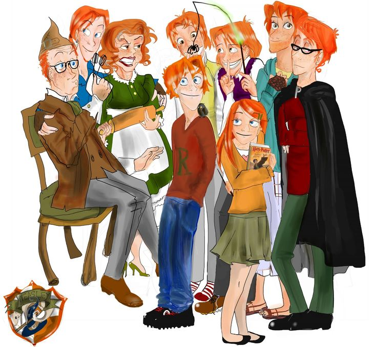 the weasley family fan art | the weasleys by sofish the ...