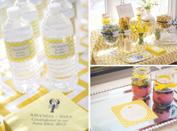 Playful & Stylish Chevron Inspired Bridal Shower