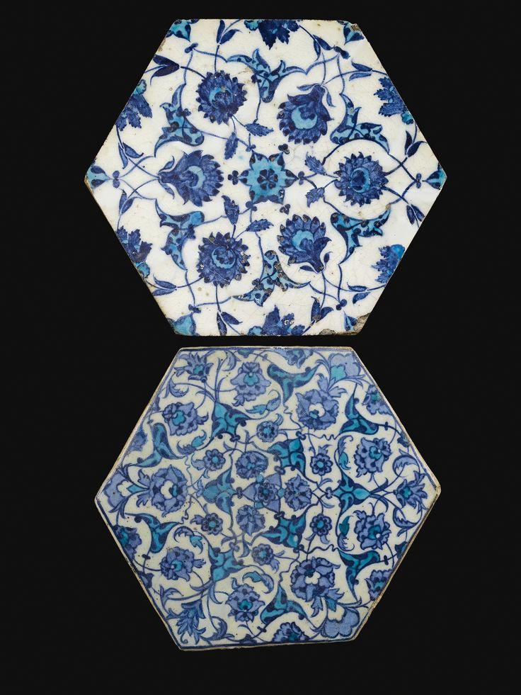 Iznik Hexagonal Tiles, first half of 16th century, Turkey