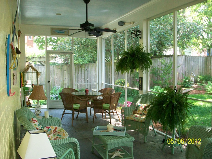 My Back Porch Decorated In A Beach Theme Decor Ideas