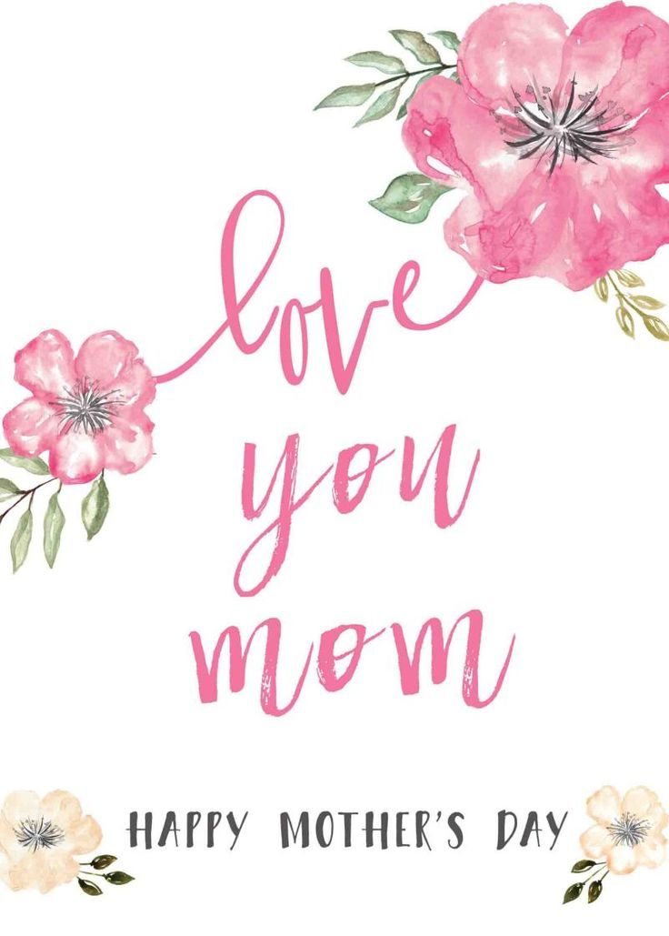 Happy Mothers Day Messages Free Printable Mothers Day Cards @forkidsandmoms Happy Mothers Day