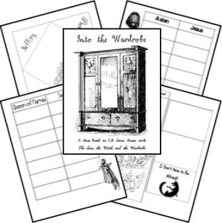 The Lion, the Witch, and the Wardrobe note booking/lapbooking pages. LOVE these!