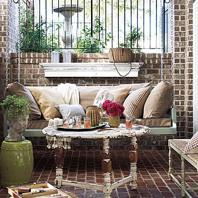 Our Favorite Porch Swings: Rustic Porch Swing