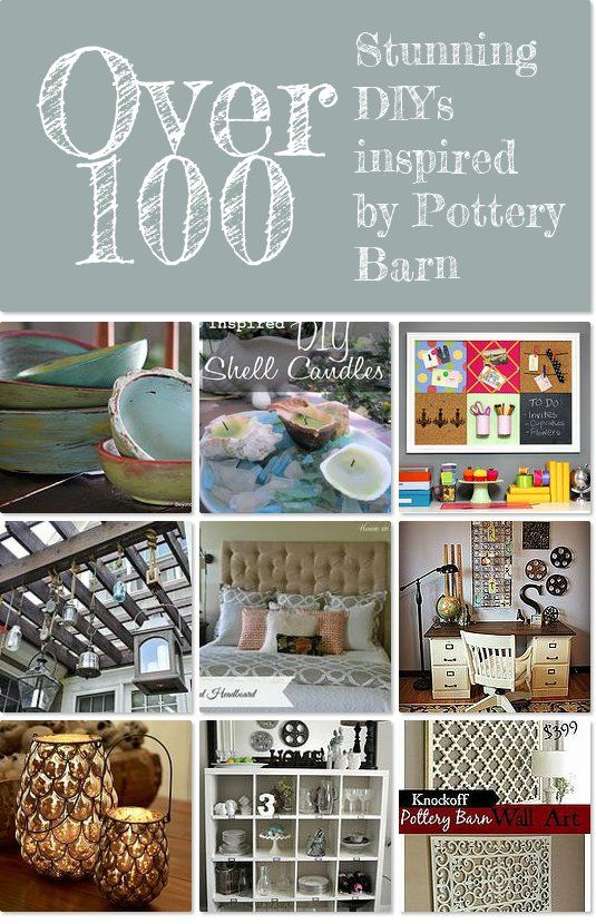 Stunning DIY's inspired by Pottery Barn                                                                                                                                                                                 More