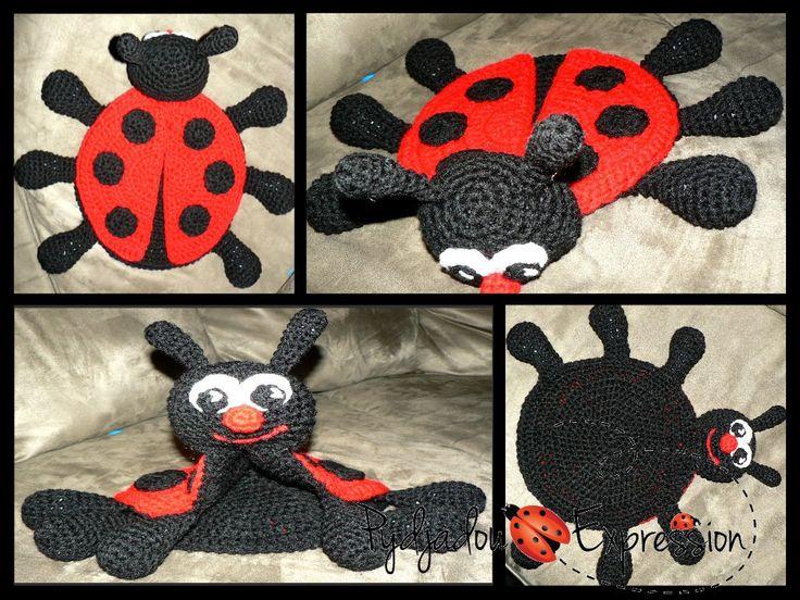 CROCHET PATTERN  Ladybug Lovey Snuggle Buddy por PydjadouExpression, $4,50
