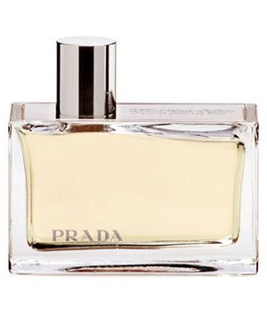Prada (Amber) Prada perfume - a fragrance for women 2004Top notes: bergamot, bitter orange, mandarin, mimosa absolute Middle notes: rose absolute, patchouli absolute Base notes: labdanum, Tonka beans, vanilla, sandalwood, benzoin The fragrance was created by Carlos Benaim, Max and Clement Gavarry of IFF