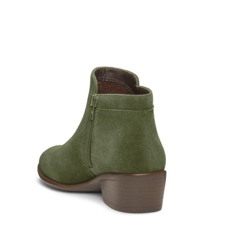 Aerosoles Women's Mythology Ankle Boots (Dark Green Suede)