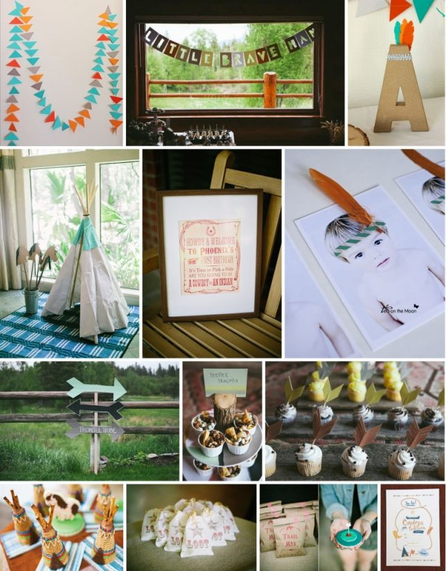 Cowboys And Indians First Birthday Theme
