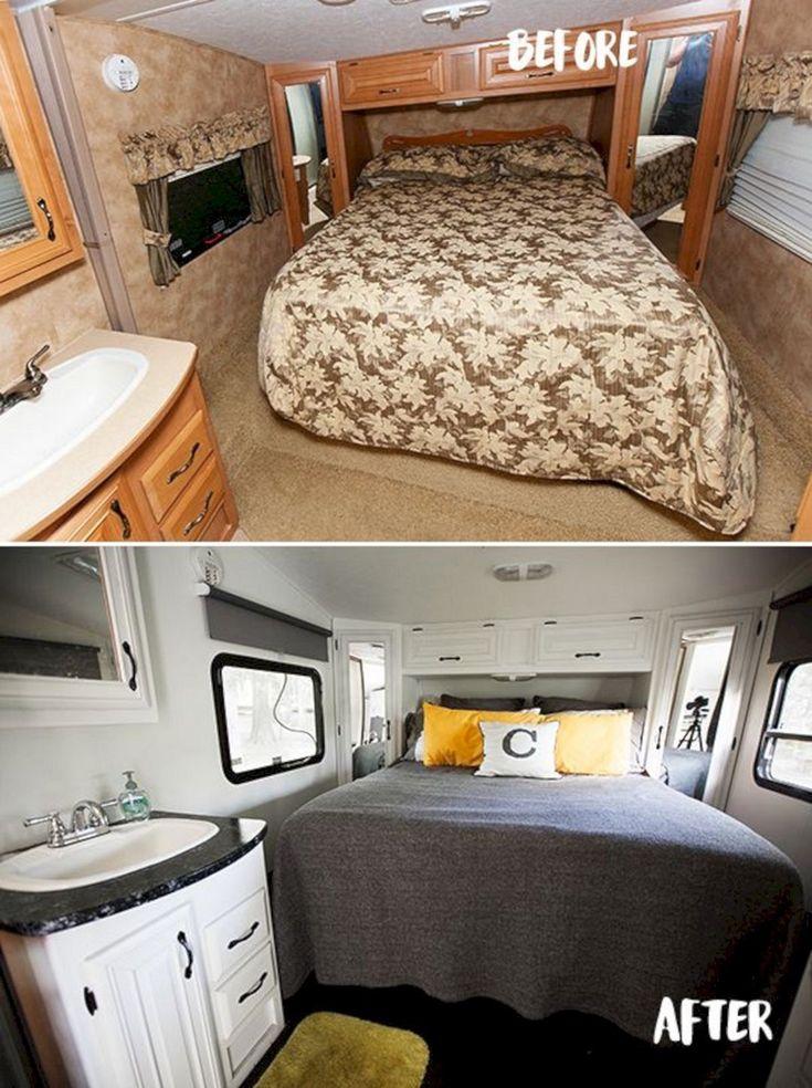 40 best rv hacks remodel makeover camper beds camper