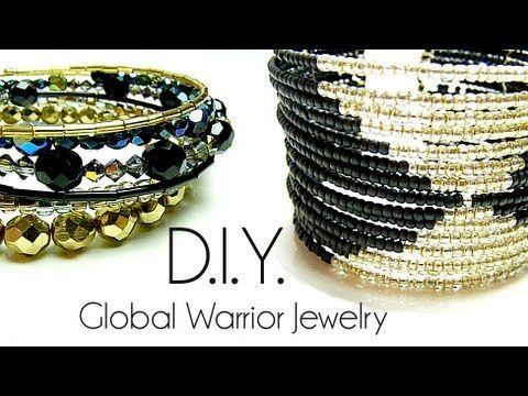 Tutoriel - D.I.Y. : Global Warrior Jewelry - Fil à mémoire de forme / memory wire bracelet