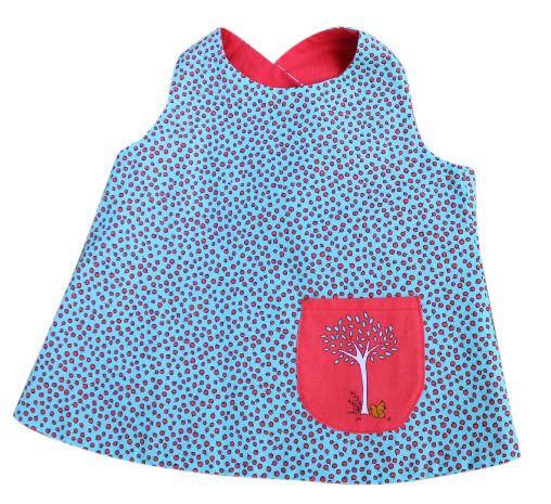 Reversible tunic, size 2/3, 4/5, Red Dot Stitches