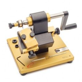 "Millrite Plus Milgrain Machine - Allows you to create designs on your rings, even on angled or perpendicular surfaces. Includes one female 0.8 mm lathe milgrain tool (1/8"" square shank) and one #7 French millgrain tool"