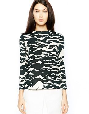 Image 1 ofWhistles Top in Mystic Mountain Print