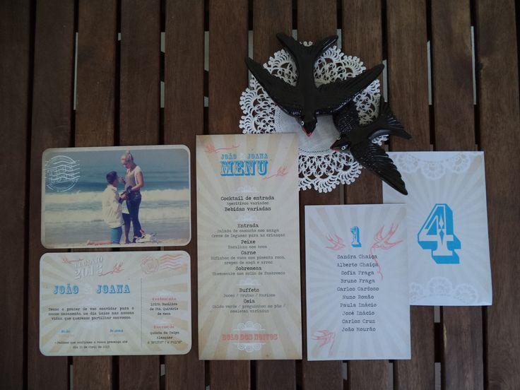Vintage Beach Wedding /// Stationery