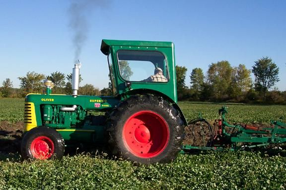 tractor plowing | Oliver Super 99: