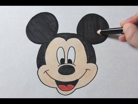 how to draw a mickey mouse easy
