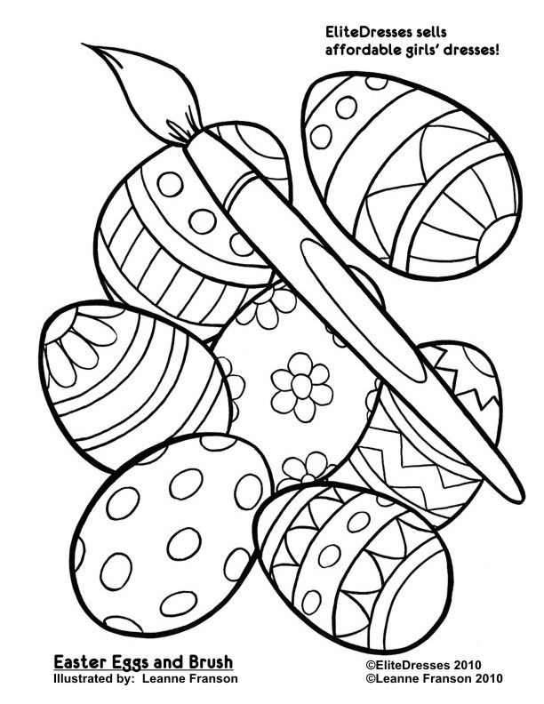 Free Easter Coloring Pages - Coloring Easter Pictures