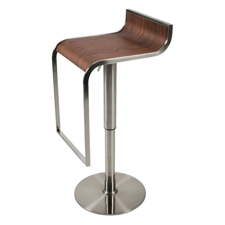 Euro Style Forest Adjustable Bar Stool Walnut