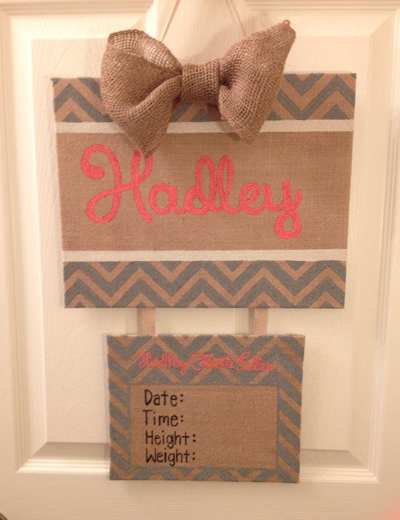 Baby Hospital Door Hanger Birth Announcement By