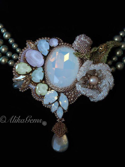 Ketting, Handgemaakte ketting.  Collier Spring.  Alik.  Online Store Fair Masters.  Spring, kristallen Swarovski (swarovski)