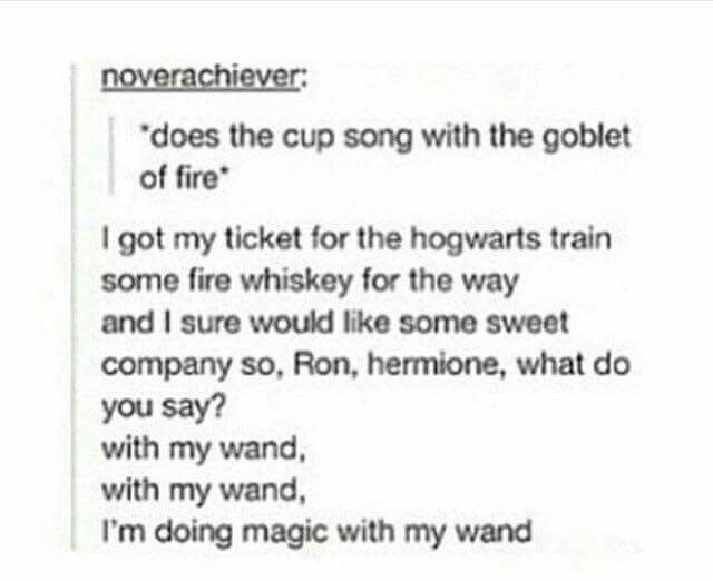 The Goblet of Fire Cup Song:
