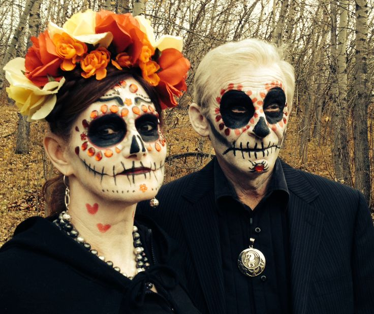 Day of the dead makeup couples costume #dayofthedead # ...