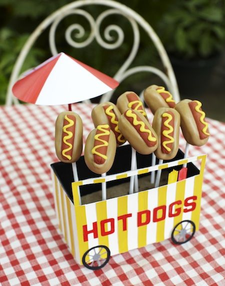 Why not make these quirky hot dog POPs as delicious snacks for a summer barbecue POP TIP IF YOU DO NOT HAVE A PIPING BAG AND NOZZLE USE A LOLLIPOP COVER OR...