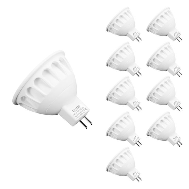 LESHP LED Spotlight Bulbs LED Recessed Lighting LED Bulbs MR16 AC/DC12V 5W LED Spotlight 4000K 40° Beam Angle (7W-10packs)