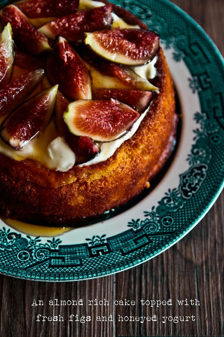 Luscious Fig & Yogurt Almond Cake (Gluten Free)