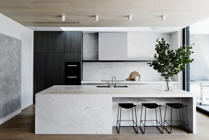 Mim Design - Melbourne Interior Design. Perfect balance of light and dark. Without being symmetrical.