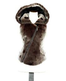 Seal skin hooded vest
