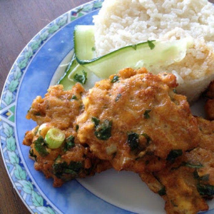 Thaise viskoekjes, te serveren als voorgerecht, bij de borrel of als hoofdgerecht met rijst