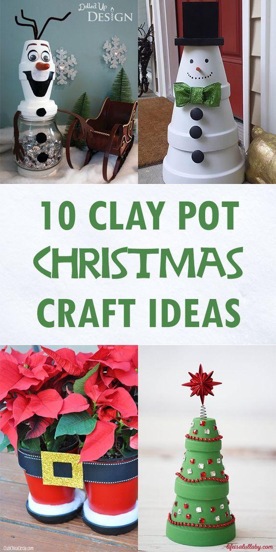 10 creatieve Clay Pot Christmas Craft Ideas