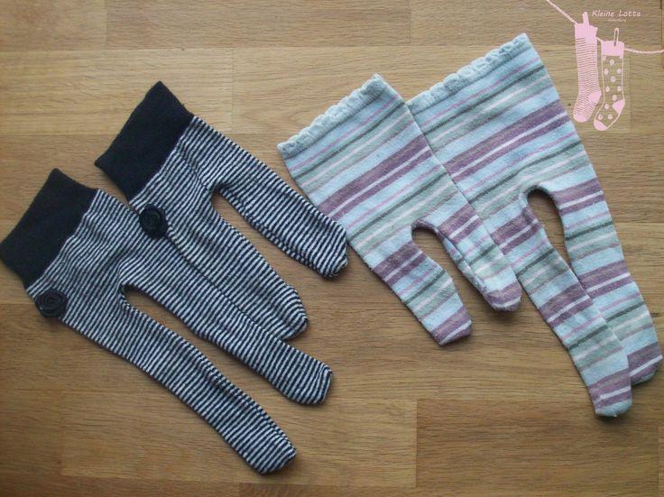 Wie bereits erwähnt, tat es mir immer um meine schönen bunten Socken und Kniestrümpfe leid, die leider ziemlich schnell an Fersen und Zehen...