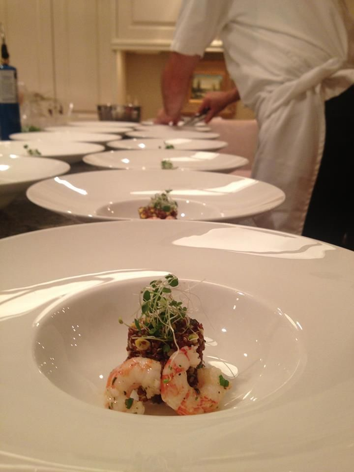 Toque Catering Victoria BC Silver Rill Corn And Red Quinoa Salad Spot Prawn