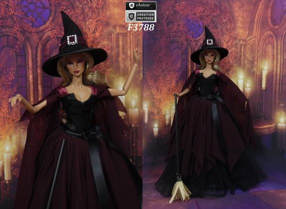 robes barbie sorcire de halloween n16 vtement pour poupe barbie silkstone fashion royalty muse - Halloween Fashion Games