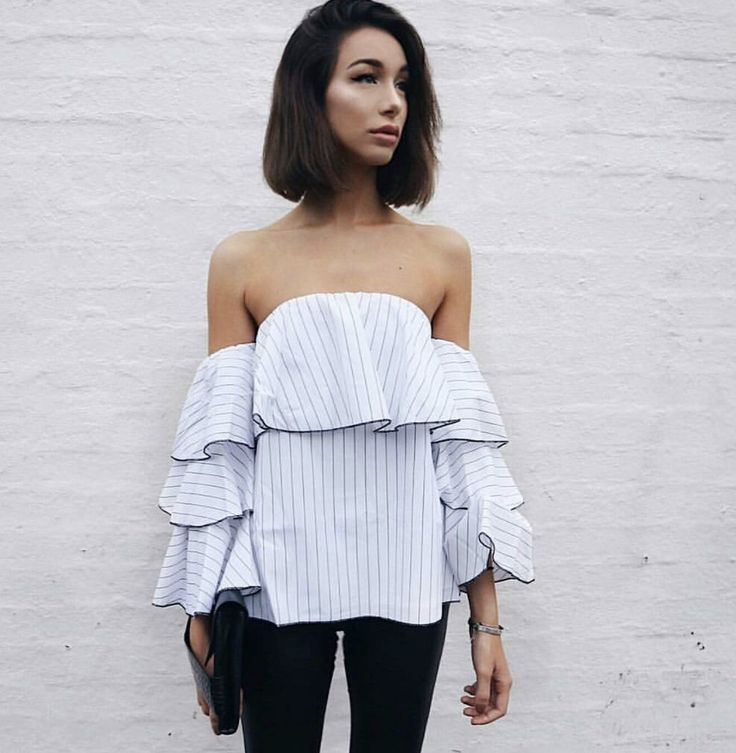 Best Selling Spencer Top- Black Stripe. Sizes 6 to 18.