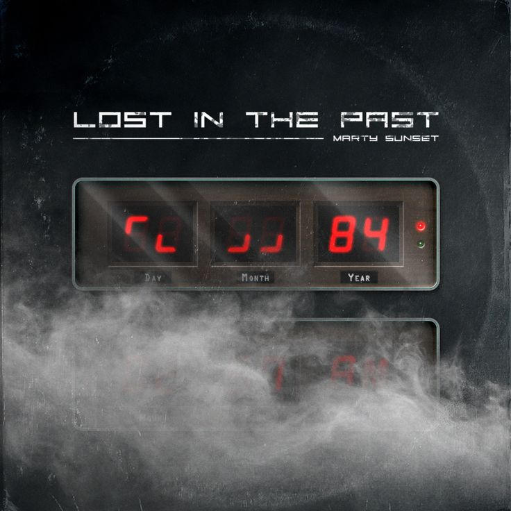 "New and better version of my retro design artwork for my music ""Lost in the Past"" i did with my wacom Intuos and some textures. Listen to my synthwave music by clicking the picture"