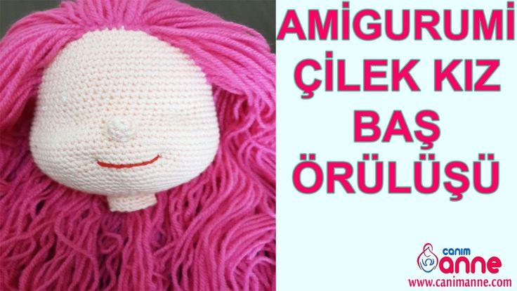 Amigurumi Çilek Kız Baş Örülüşü