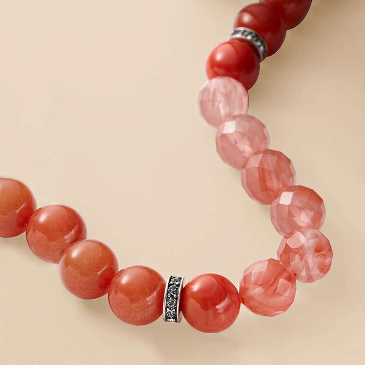 FOSSIL Jewelry Necklaces:Women Orange Beaded Necklace: Fossil Watches, Fossil Jewelry, Sautoir Fossil, Fossil Orange