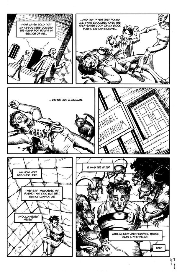 The Rats In The Walls Page4 By Electronicron Rats Lovecraft Wall