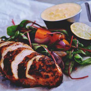 Kyckling o sötpotatissallad