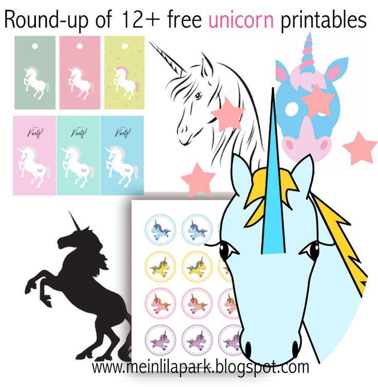 MeinLilaPark – DIY printables and downloads: 12+ free unicorn printables - Einhorn - round-up