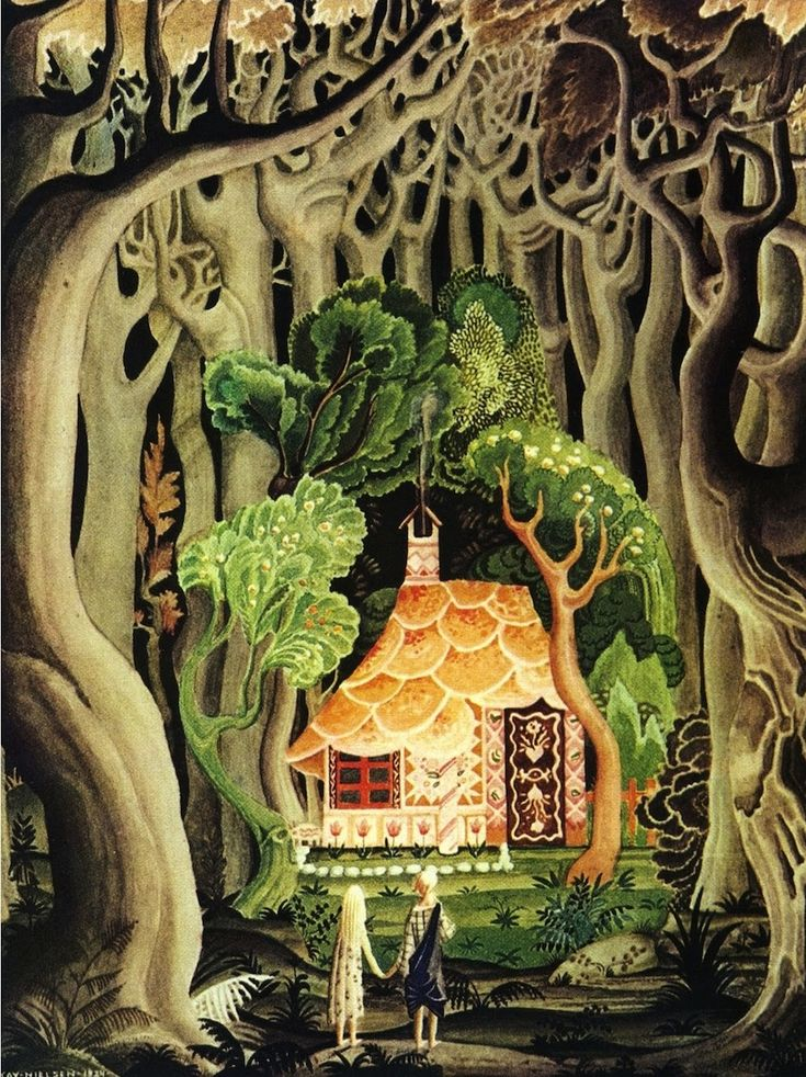 "Kay Nielson's illustrations of the Grimm Fairy Tales are just beyond. Jenny Lens: ""LOVE LOVE LOVE Nielson for about 4 decades or more ... this is great, thanks!"""
