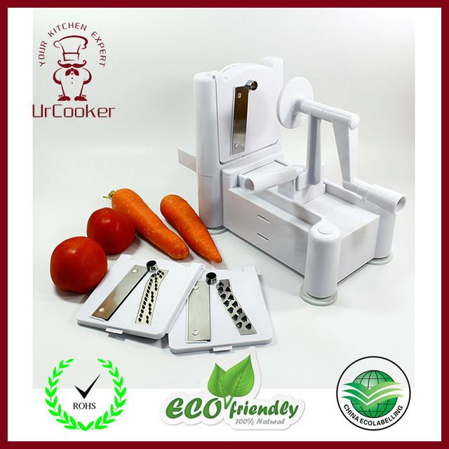 Tri-Blade Spiral Vegetable Slicer 3 in 1 multifunction grater High quality kitchen tools >>> Learn more by visiting the image link. #KitchenFixtures