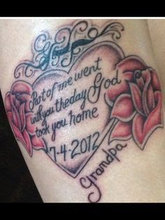 My tattoo in remembrance of my grandpa, who was also my best friend. ❤️ RIP Grandpa. I love you.